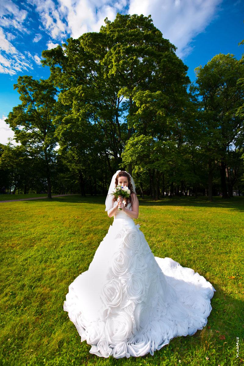 Фото невесты широкоугольным объективом