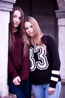 Портретная фотосессия двух девушек на улицах Новочеркасска
