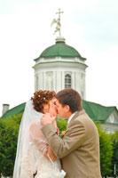 Свадебная прогулка в Москве у Новодевичьего монастыря и в усадьбе Кусково