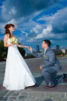 Свадебная прогулка на Поклонной горе и на Красной площади в Москве
