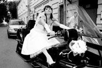 Свадебная прогулка на мотоциклах по Москве