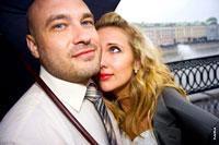 Свадебная фотосессия в дождь, в Москве +12°С