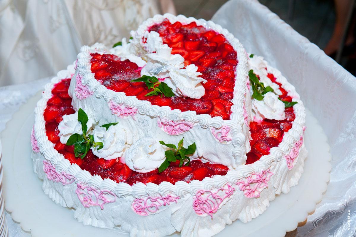 Фото украшения свадебных тортов