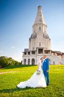 Свадьба в усадьбе Коломенское в Москве