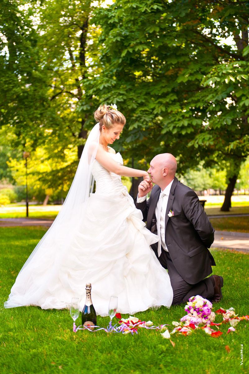творческий фото невеста выше жениха днем ангела