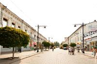 Улица Карла Маркса (в настоящее время— Екатерининская улица) в окружении красивых старинных домов