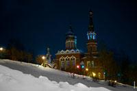 Фото Храма Казанской иконы Божией Матери в Ижевске ночью
