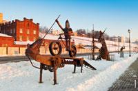 Ferrum FEST в Ижевске: серия металлических скульптур на набережной Ижевского пруда