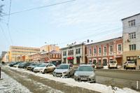 Фото ансамбля купеческих зданий на ул. Горького в Ижевске с HD разрешением 3690 на 2455 пикселей