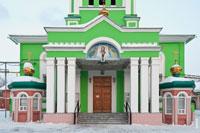 Фото входа в Троицкий собор в Ижевске с HD разрешением 4060 на 2700 пикселей
