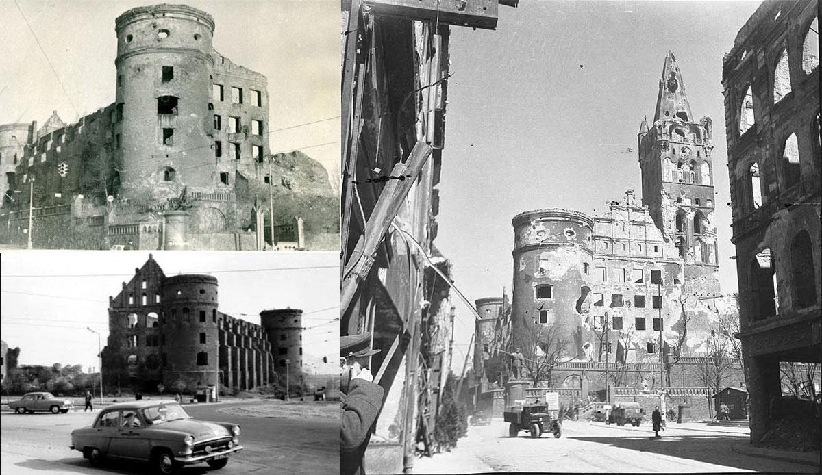 Серия фотографий Королевского замка после войны