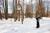 Фото деревянной скульптурной композиции «Семья»