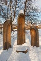 Фото деревянной скульптурной композиции «Инвожо»