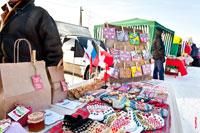 Фото меда, шерстяных носков и других изделий в торговых рядах в «Лудорвае» на Масленицу