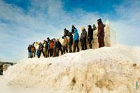 Фото команды, которая будет оборонять снежную крепость в «Лудорвае»