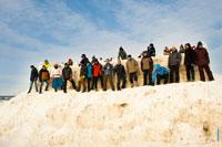 Снежная крепость в «Лудорвае» на Масленицу и ее оборона