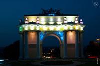 Достопримечательности Новочеркасска ночью, фотографии