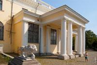 Фото льва у входа в дворец Воронцовых в Одессе